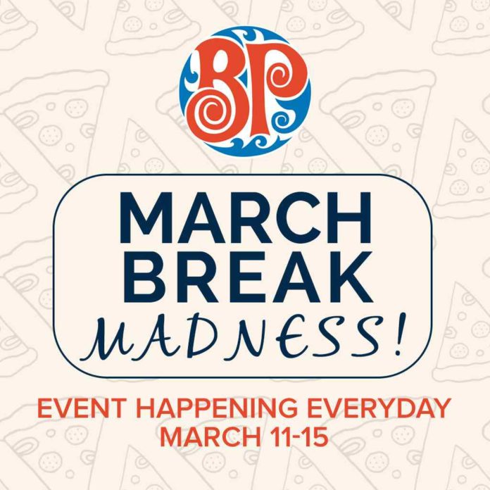 Baston pizza Rutherford march break madness